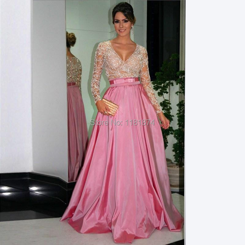 Long sleeve evening dresses 2015