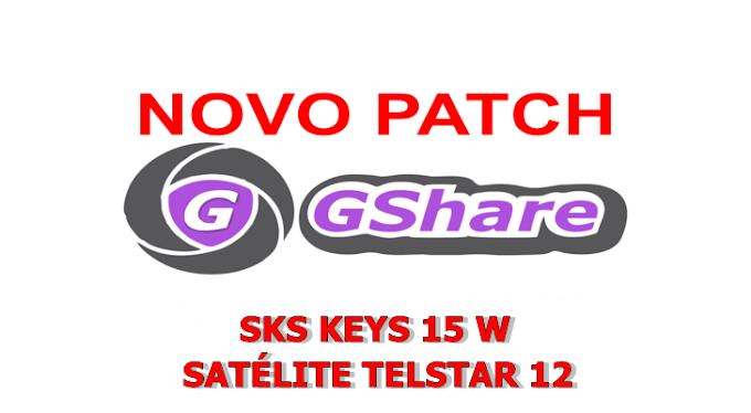 PATCH GSHARE NOVA ATUALIZAÇÃO KEYS 15W (SATÉLITE TELSTAR 12) - 30/12/2017