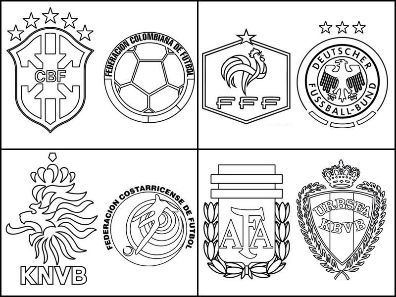 Coloriage Coupe Du Monde De Football 2014 Quarts De Finale De La