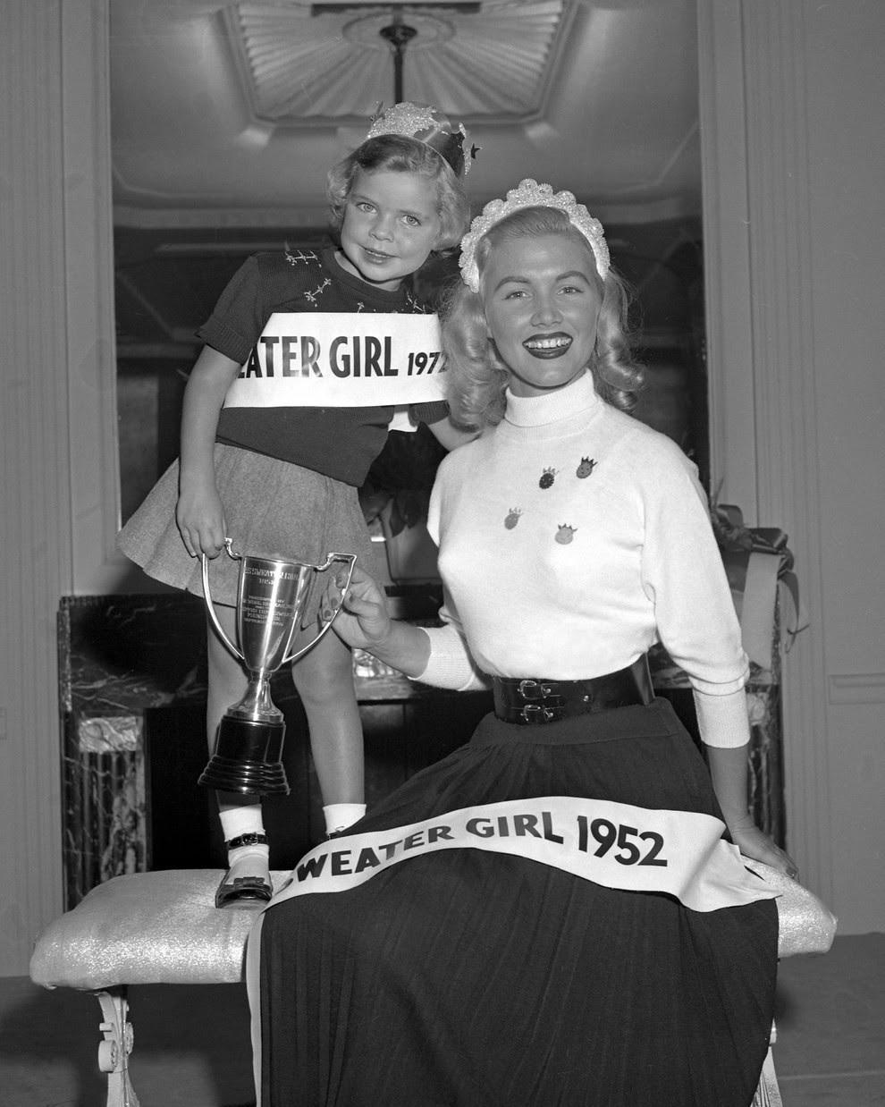 4. Королева Свитеров, 1952 конкурс, королева, красота