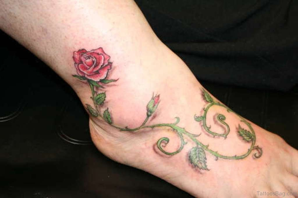 Small Thigh Rose Tattoos Tattoo Design