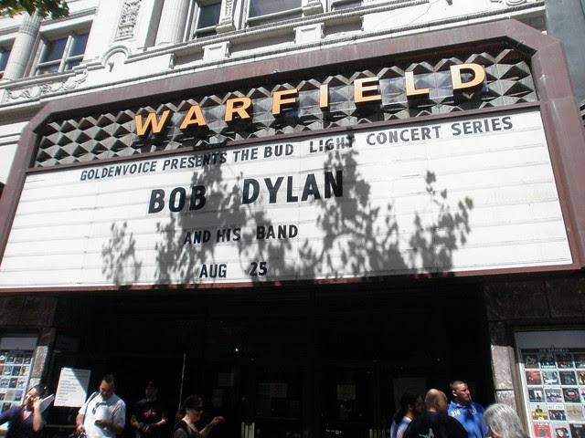 Bob Dylan at the Warfield