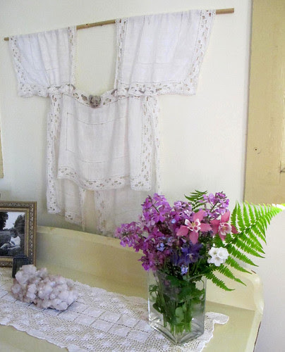linen and lace blouse in our bedroom