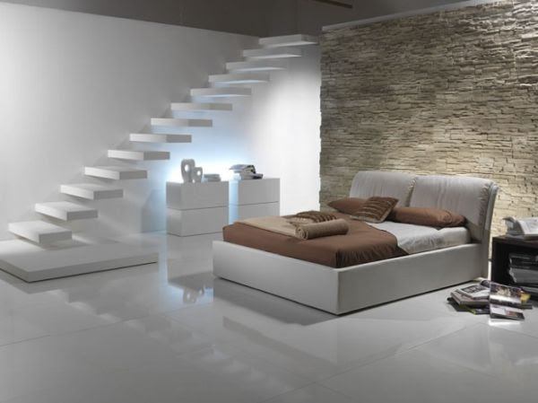 Sleek floating stair
