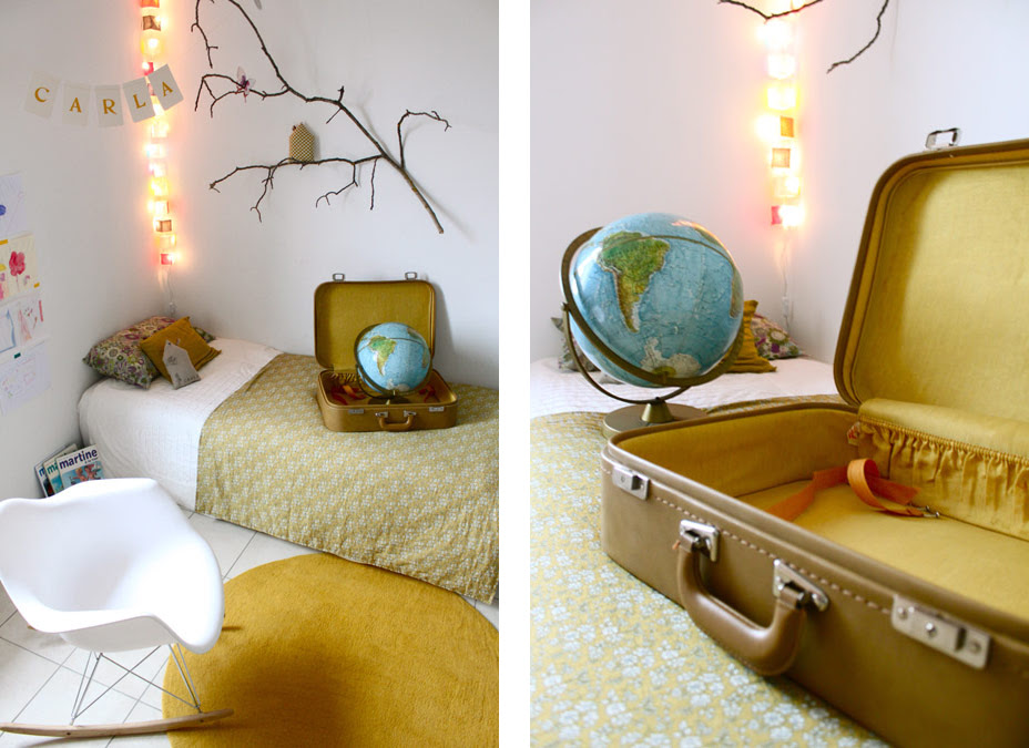 decoracion infantil nordica, maletas antiguas, decoracion natural, eames armchair, decorar com malas antigas, decoração berçário, quarto do bebê, dekorieren mit alten Koffern, Kinderzimmer Dekor, Baby-Raum,