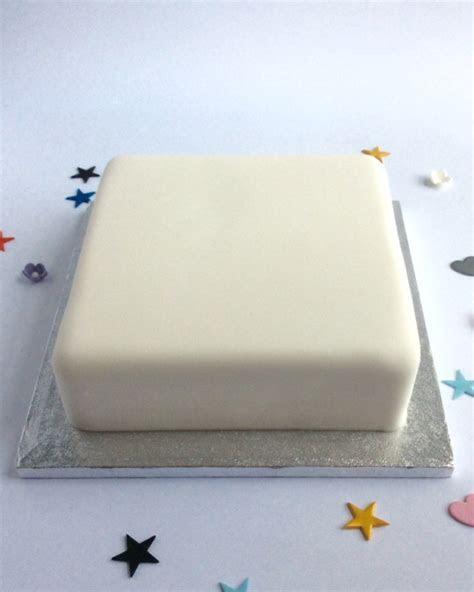 Standard Undecorated square Cake   Karen's Cakes