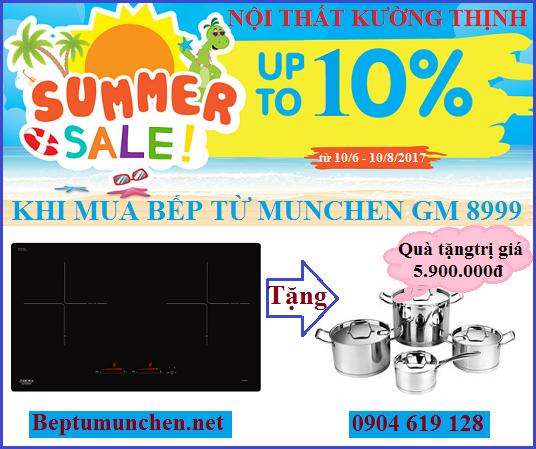 Tặng quà khủng khi mua bếp từ Munchen GM 8999