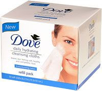 No. 7: Dove Daily Hydrating Cleansing Cloths, $5.69
