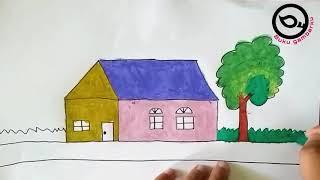 All Clip Of Mewarnai Gambar Rumah Bhclip Com