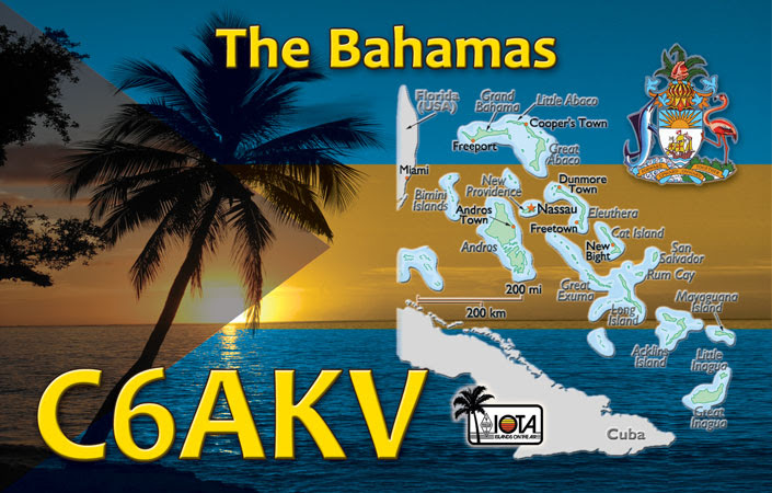 Guana Cay Abaco Islands Bahamas C6AKV QSL Elephant Beach House.