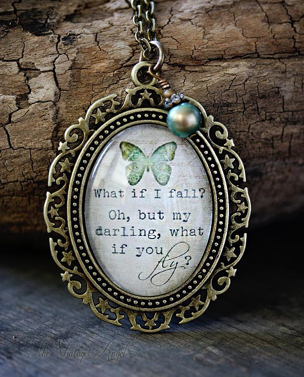 What If You Fly Inspirational Empowering Quote Pendant