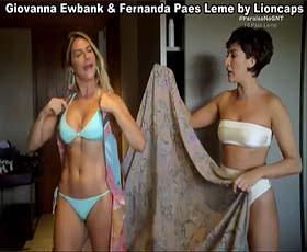 Giovanna Ewbank e Fernanda Paes Leme sensual no paraiso com