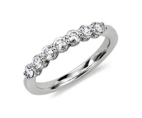 Blue Nile Silver/Platinum Pave Crown 1/2 Carat Diamond