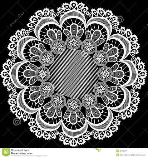 Circular Pattern With Flowers From Lace Stock Illustration