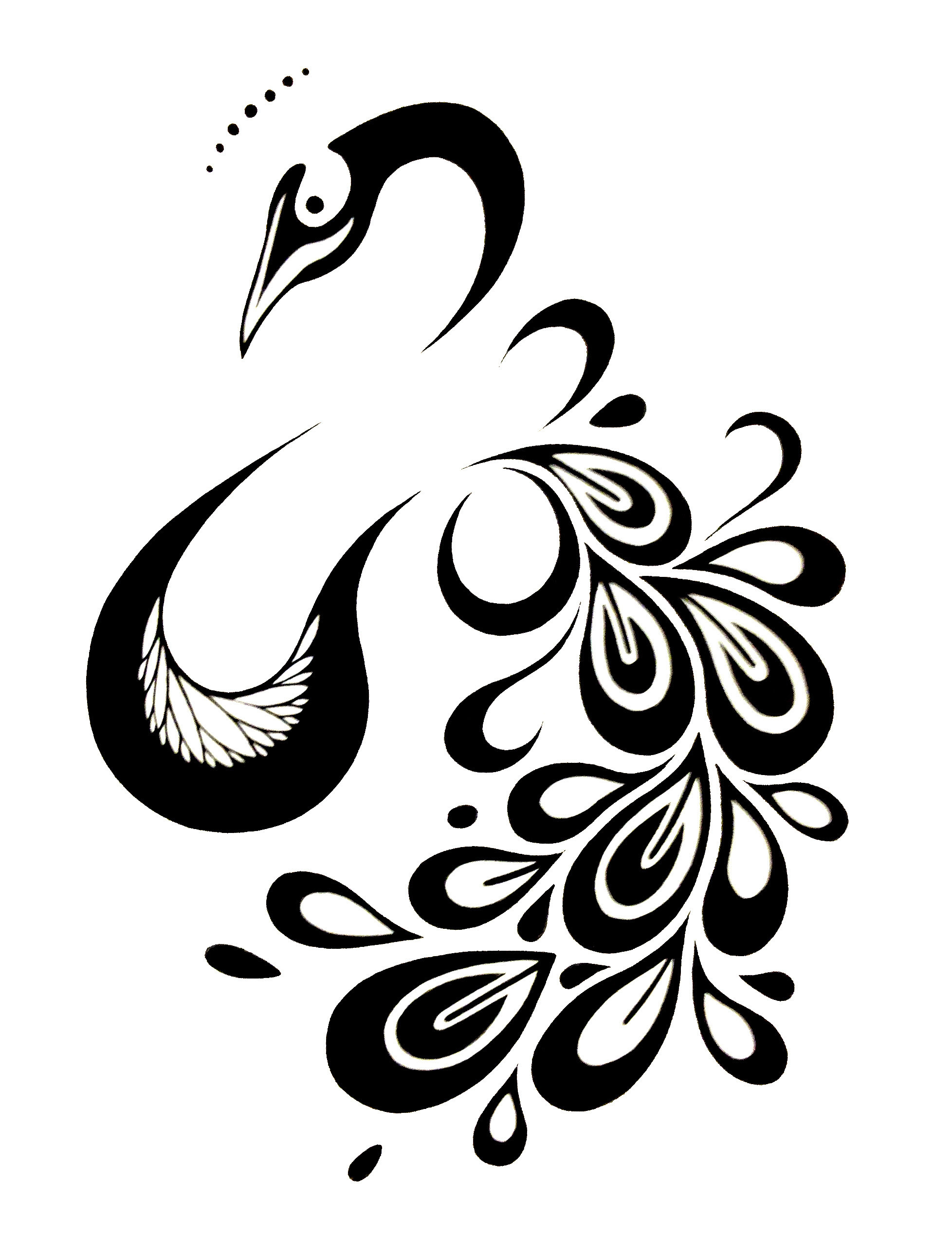 Free Peacock Design Black And White Download Free Clip Art Free
