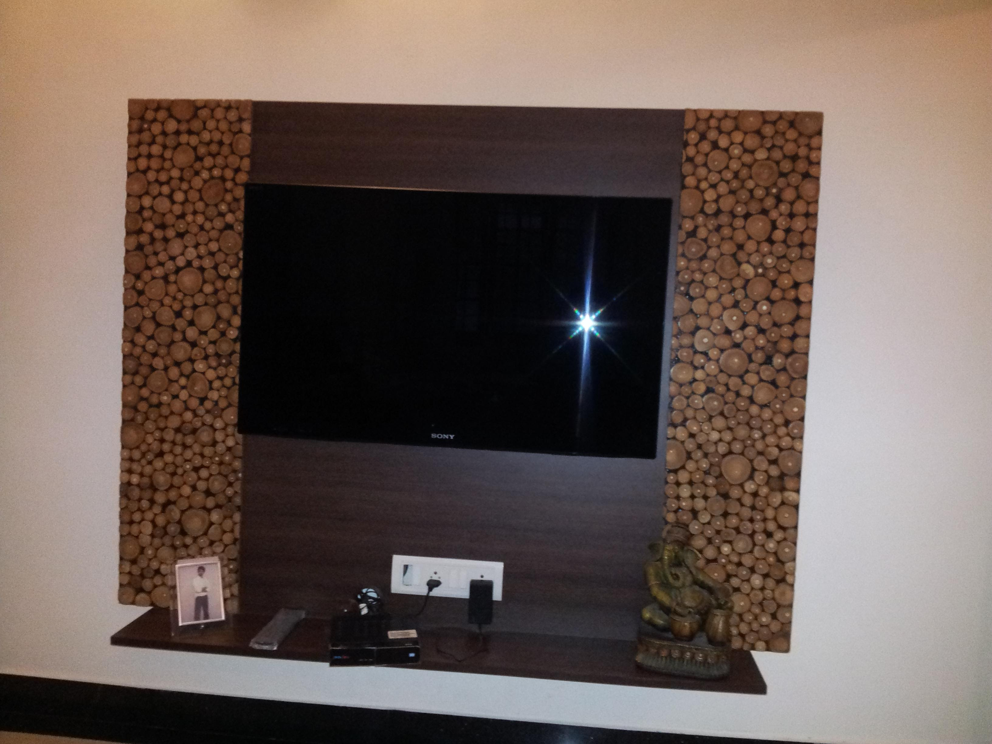 LED TV Wall Mount panel with beautiful laminate on both sides of ...