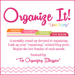 Organize It Linky party at orgjunkie.com