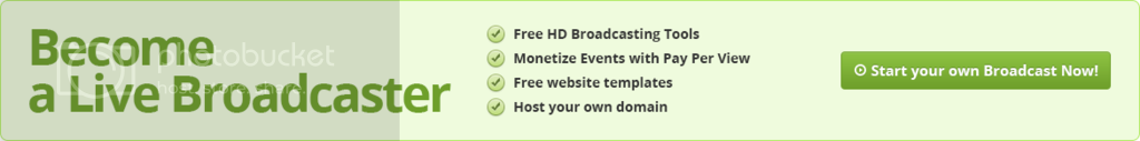 Become a LIVE Broadcaster.  Start your own Broadcast Now!