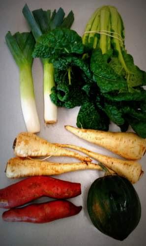Sample small veggie share