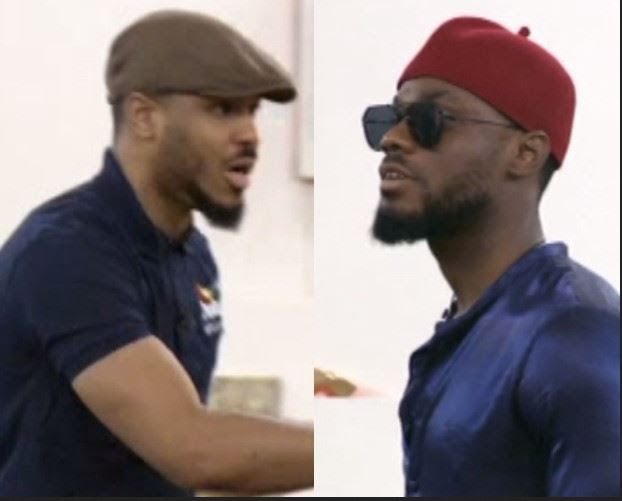 """BBNaija: """"Shut Up Your Mouth"""" – Ozo Clashes With Prince During Their Drama Practice"""