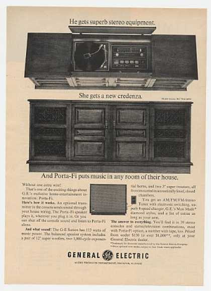 GE General Electric Sutton Porta-Fi Stereo (1965)