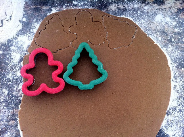 Cutting Out Gingerbread Cookies