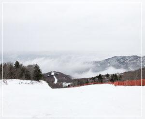 雲が下に見えます。そして雪はジャリジャリシャーベット~。