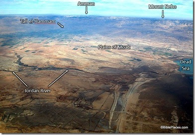 Jordanie plains of moab and tall el hammam fr