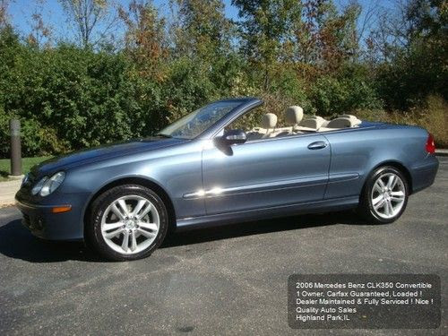 Sell used 2006 MERCEDES BENZ CLK 350 CONVERTIBLE 1 OWNER ...