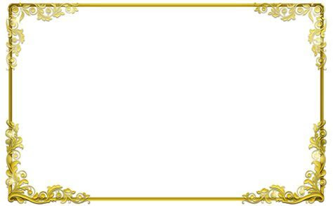 Decorative Gold Border PNG Image #39746   Free Icons and