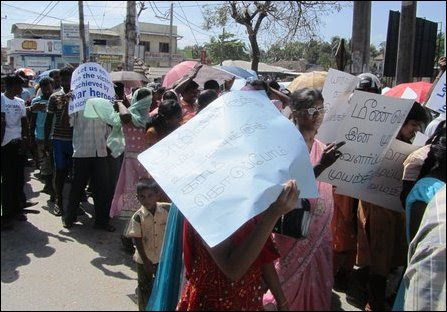 Chandrasiri coordinated demo in Jaffna