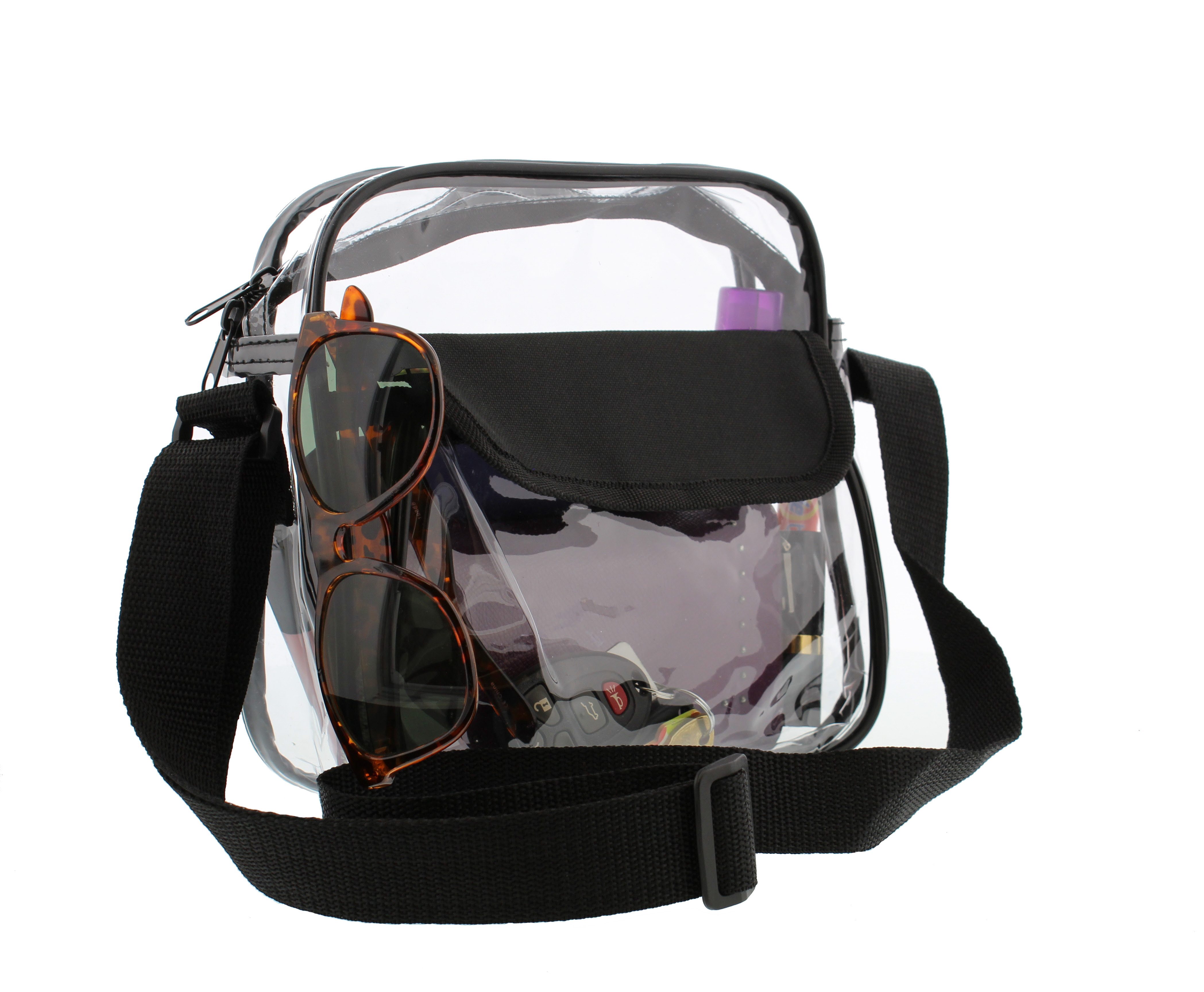 Clear Purse NFL Stadium Approved Bag with Zipper and Shoulder Strap  eBay