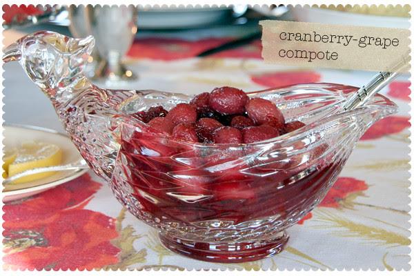 Cranberry-Grape Compote