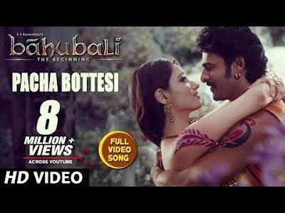 Pacha Bottasi Baahubali - The Beginning Full HD Video song