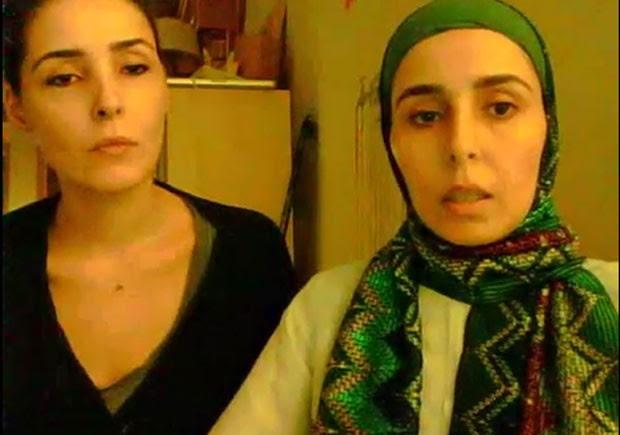 As princesas Sahar e Yawaher Bint Abdullah Al-Saud da Arábia Saudita denunciam condições as quais são submetidas pelo rei Abdullah em vídeo divulgado no YouTube (Foto: Reprodução/YouTube/Free The Princesses)