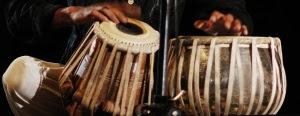 a thrilling tabla solo by Trilochan Kampli