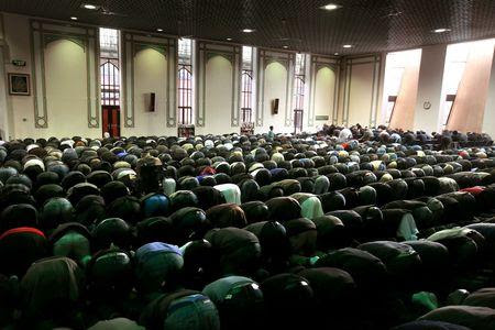 Herald Scotland: Friday prayers at the Central Mosque in Glasgow