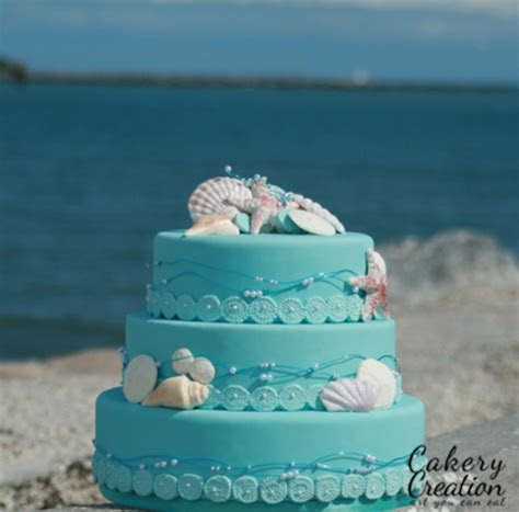 Beach Themed Wedding Cake   CakeCentral.com