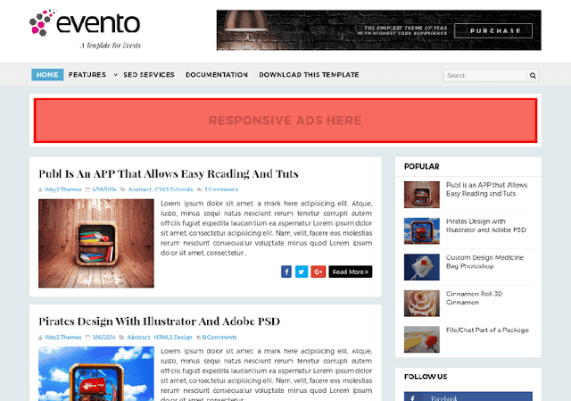 Evento Event Blogger Template