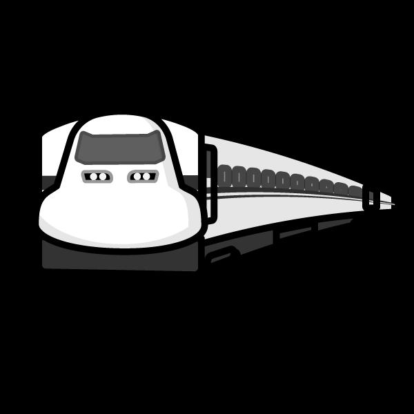 かわいい新幹線の無料イラスト商用フリー オイデ43