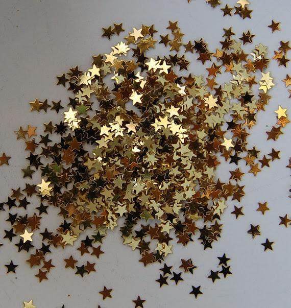 Tiny Gold Metallic Stars Glitter