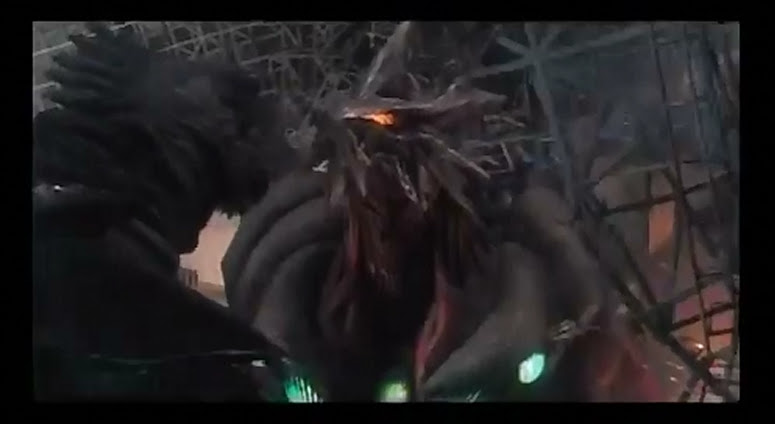 Gamera and Iris, face to face.
