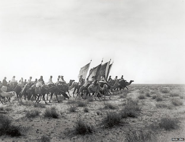 Abdulaziz Ibn Saud's army on the march near Habl 1911