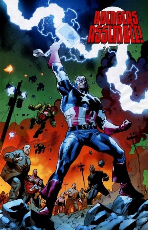 Capitan America Levanta El Martillo De Thor Comic