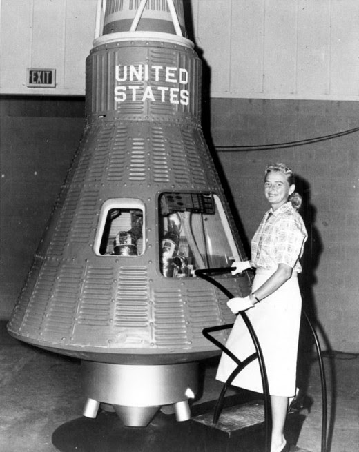 Jerrie Cobb Mercury Capsule NASA image posted on SpaceFlight Insider