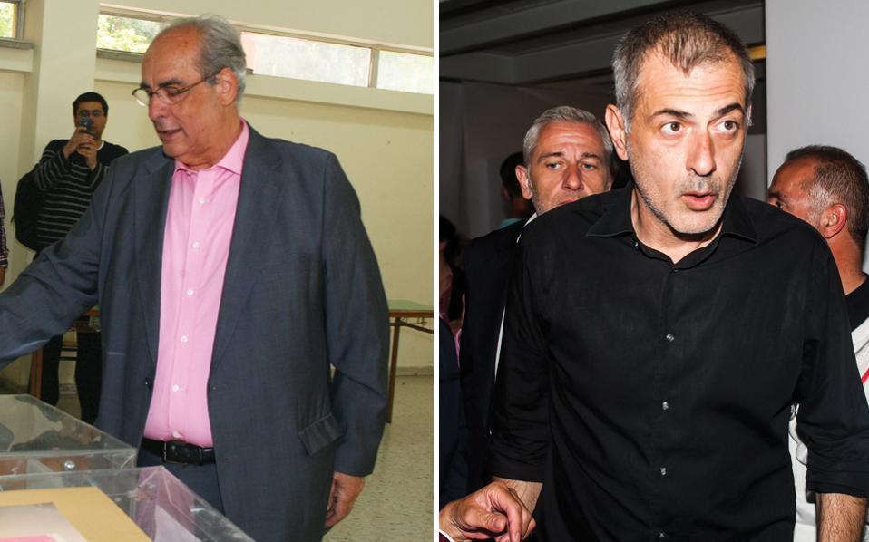 Ο υποψήφιος δήμαρχος με τον συνδυασμό «Μας ενώνει ο Πειραιάς» Βασ. Μιχαλολιάκος και ο υποψήφιος με τον συνδυασμό «Πειραιάς Νικητής» Γ. Μώραλης θα αναμετρηθούν εκ νέου την προσεχή Κυριακή.