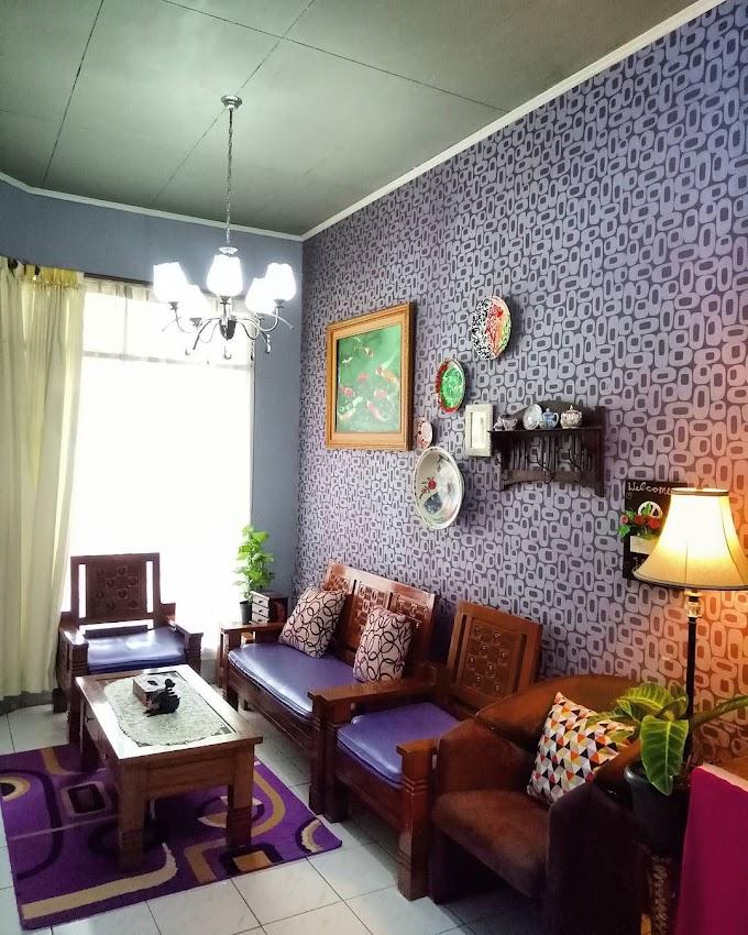 Wallpaper Dinding Ruang Tamu Merah | Ide Rumah Minimalis