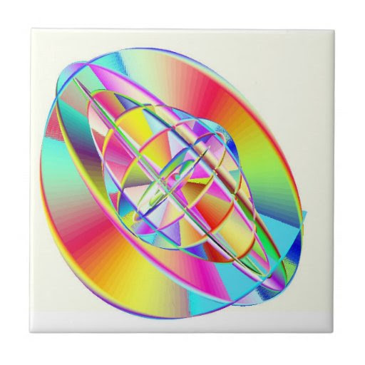 Gyroscopic Rainbow Tile
