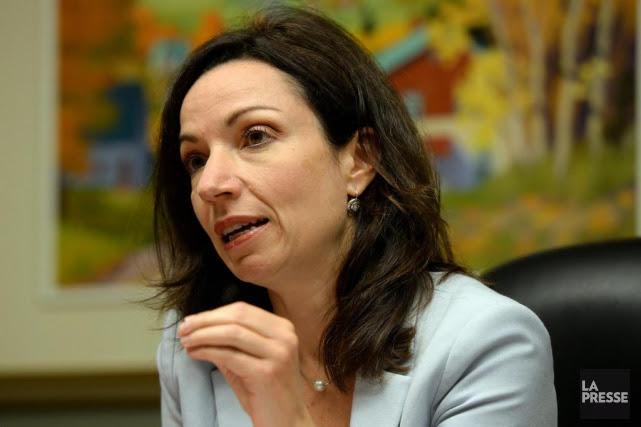 La candidate Martine Ouellet a dû affrontermercredi les... (PHOTO ERICK LABBÉ, ARCHIVES LA PRESSE)