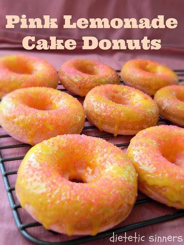 Pink Lemonade Cake Donuts from dieteticsinners
